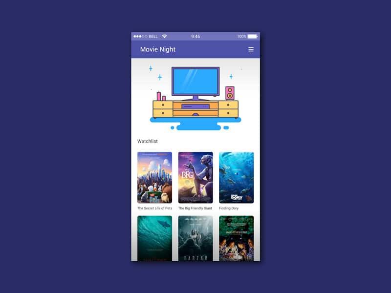 Movie Night App UI