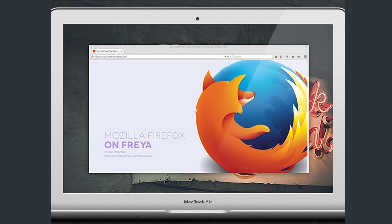 Mozilla Firefox on Freya