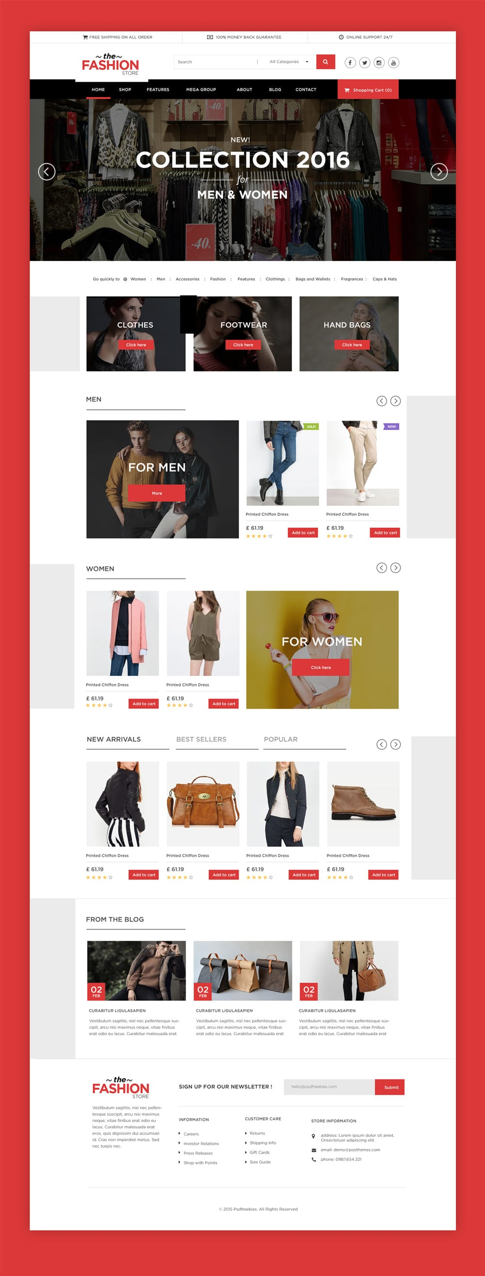 Multipurpose eCommerce Web Template PSD
