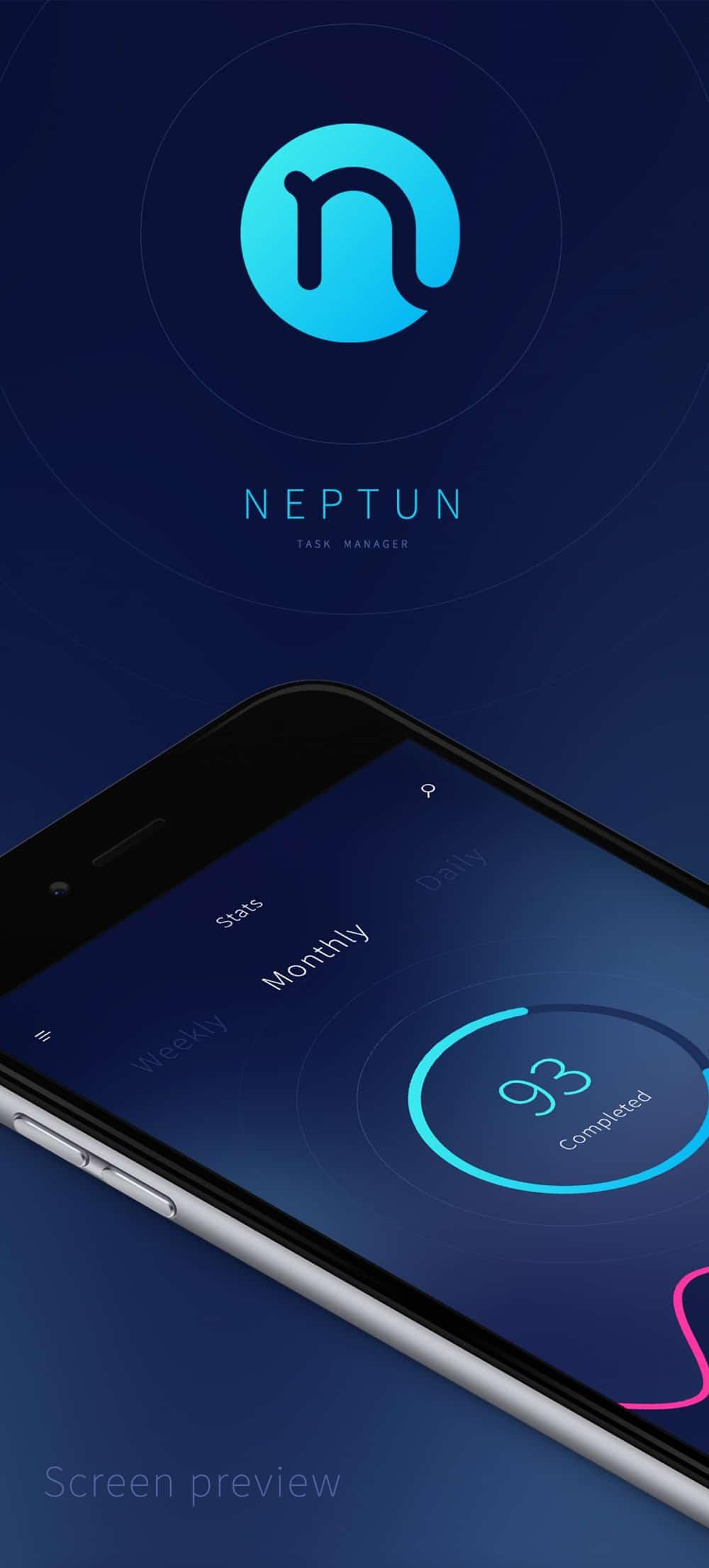 Neptun Mobile App UI PSD