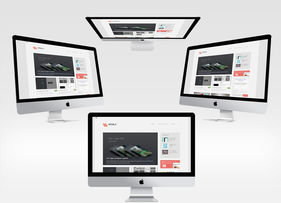 New iMac Mockups PSD