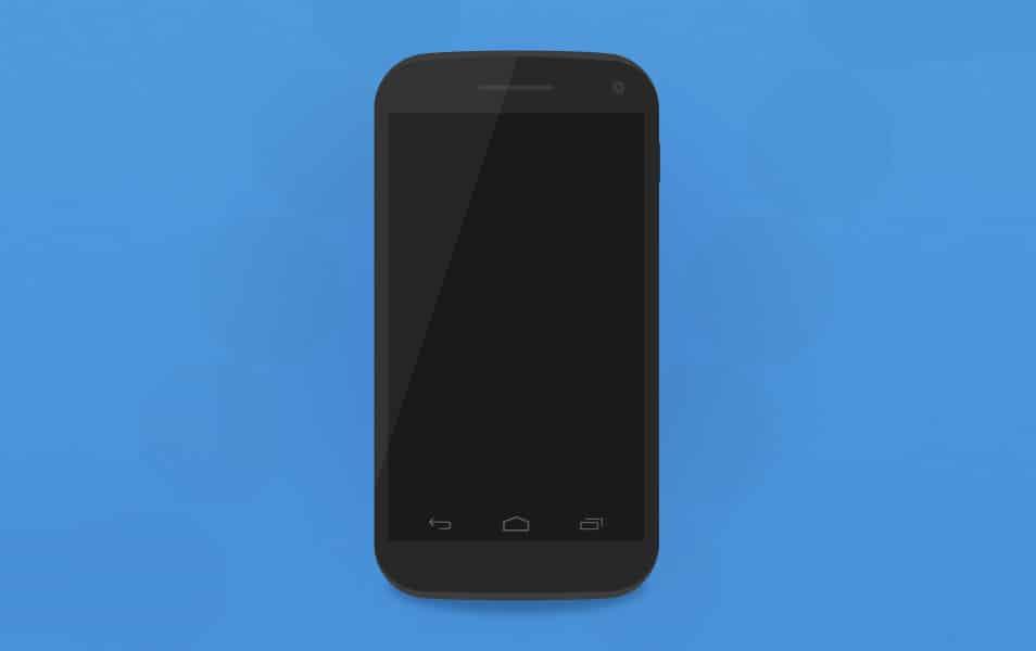 Nexus 4 Smartphone Mockup