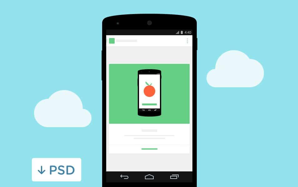Nexus 5 Inception PSD