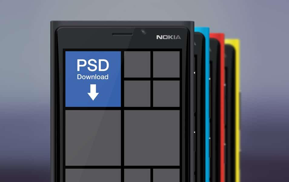 Nokia Lumia 920 Mockup psd