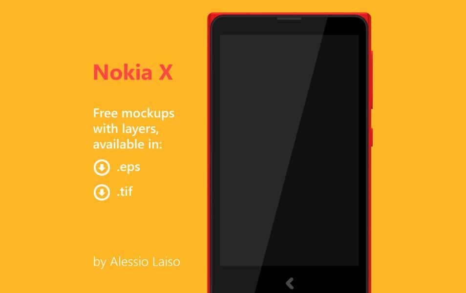 Nokia X Free vector mockups