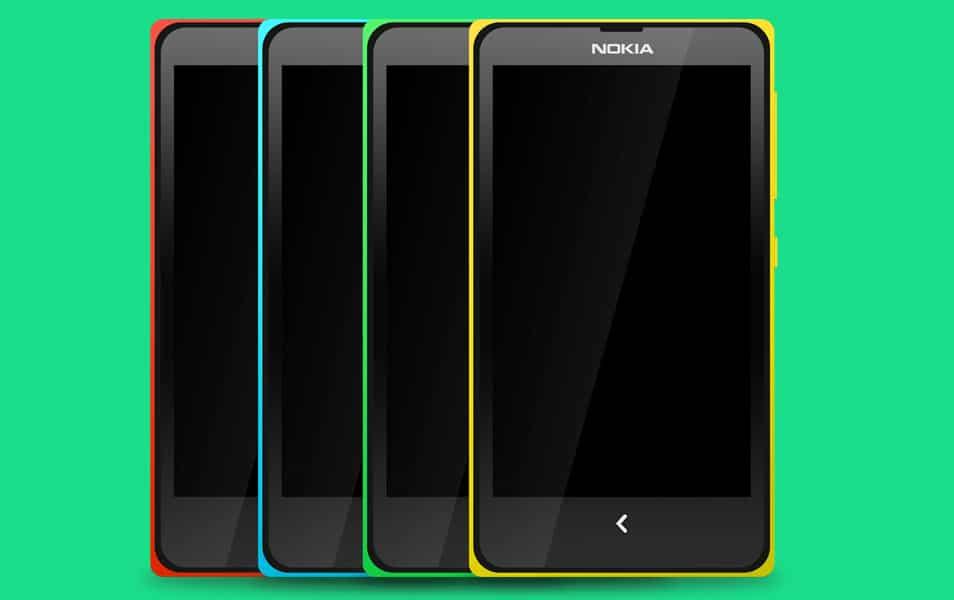 Nokia X Mockup PSD