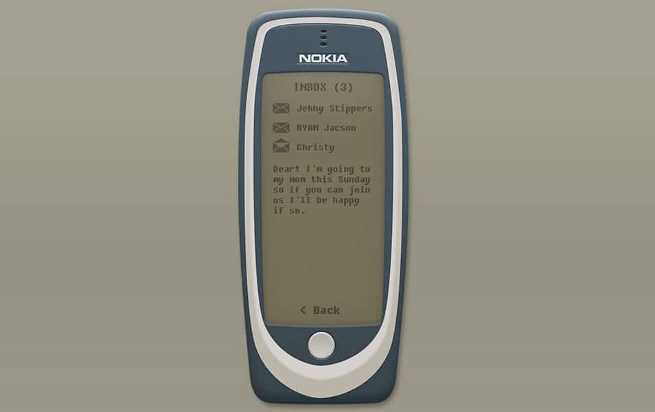 Nokia3310 Fullscreen Free Mockup