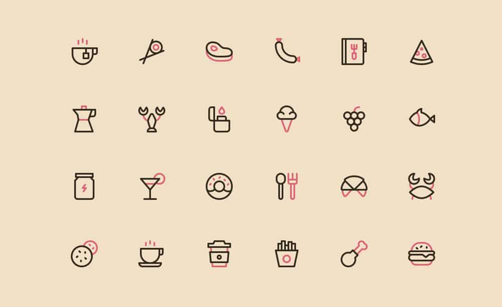 Nucleo Free Food Icons