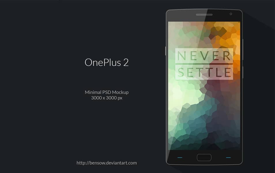 OnePlus 2 Minimal PSD Mockup