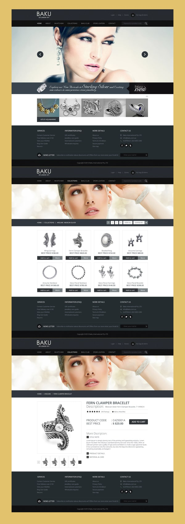 Online Store Template PSD