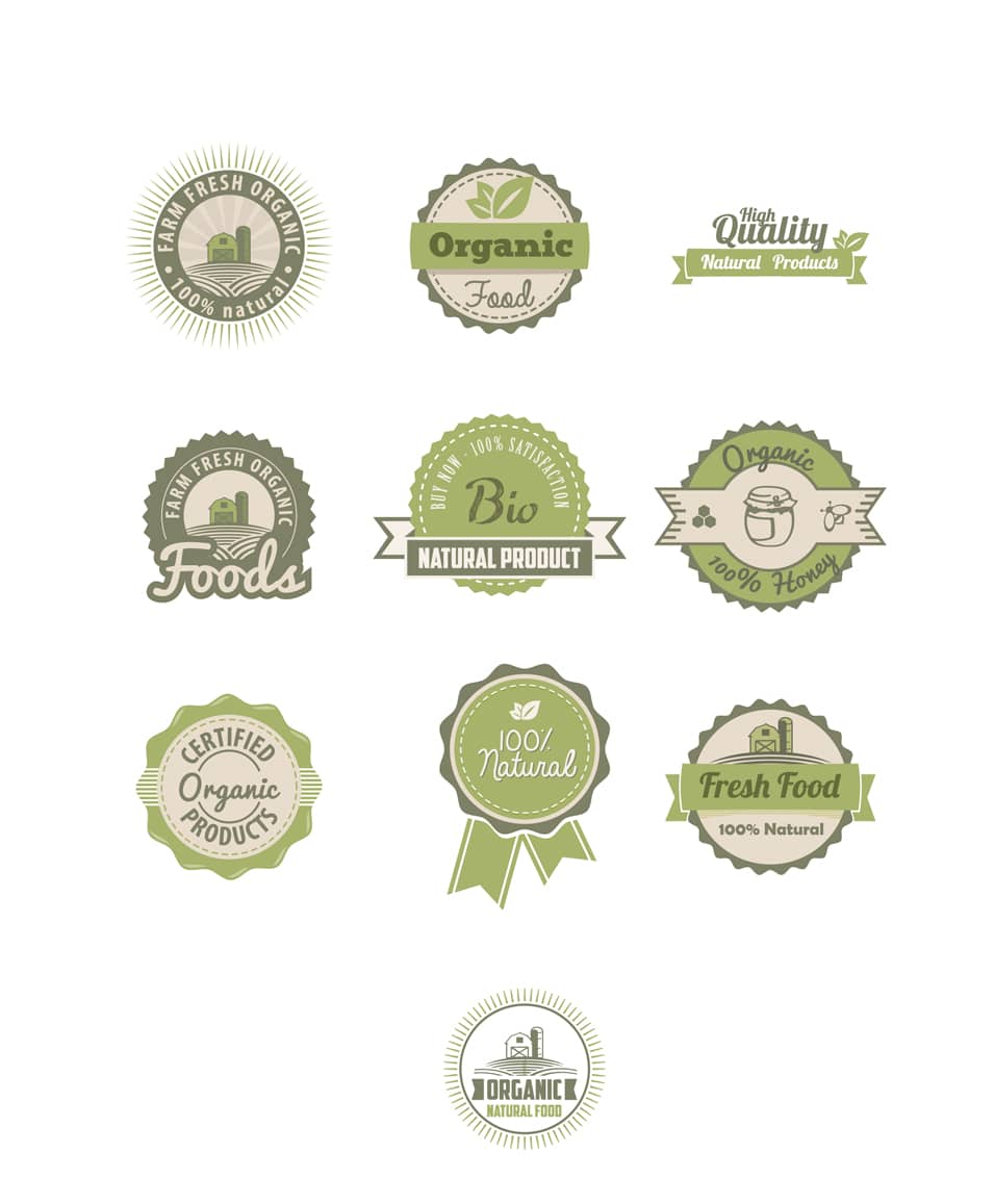 Organic Vector Badges
