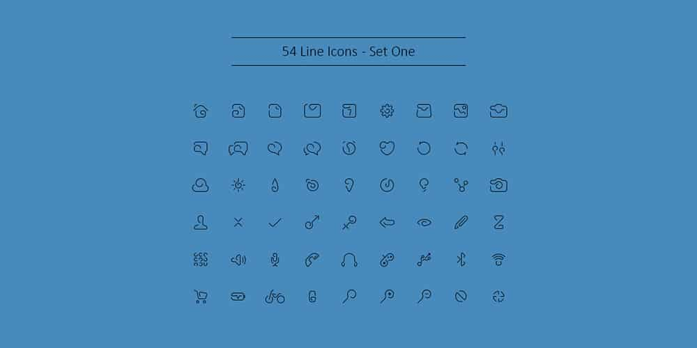 Outline Icons Free PSD