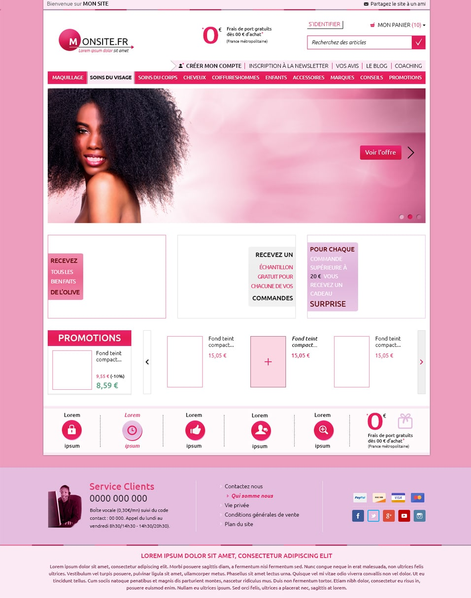 PINK - E Commerce Template