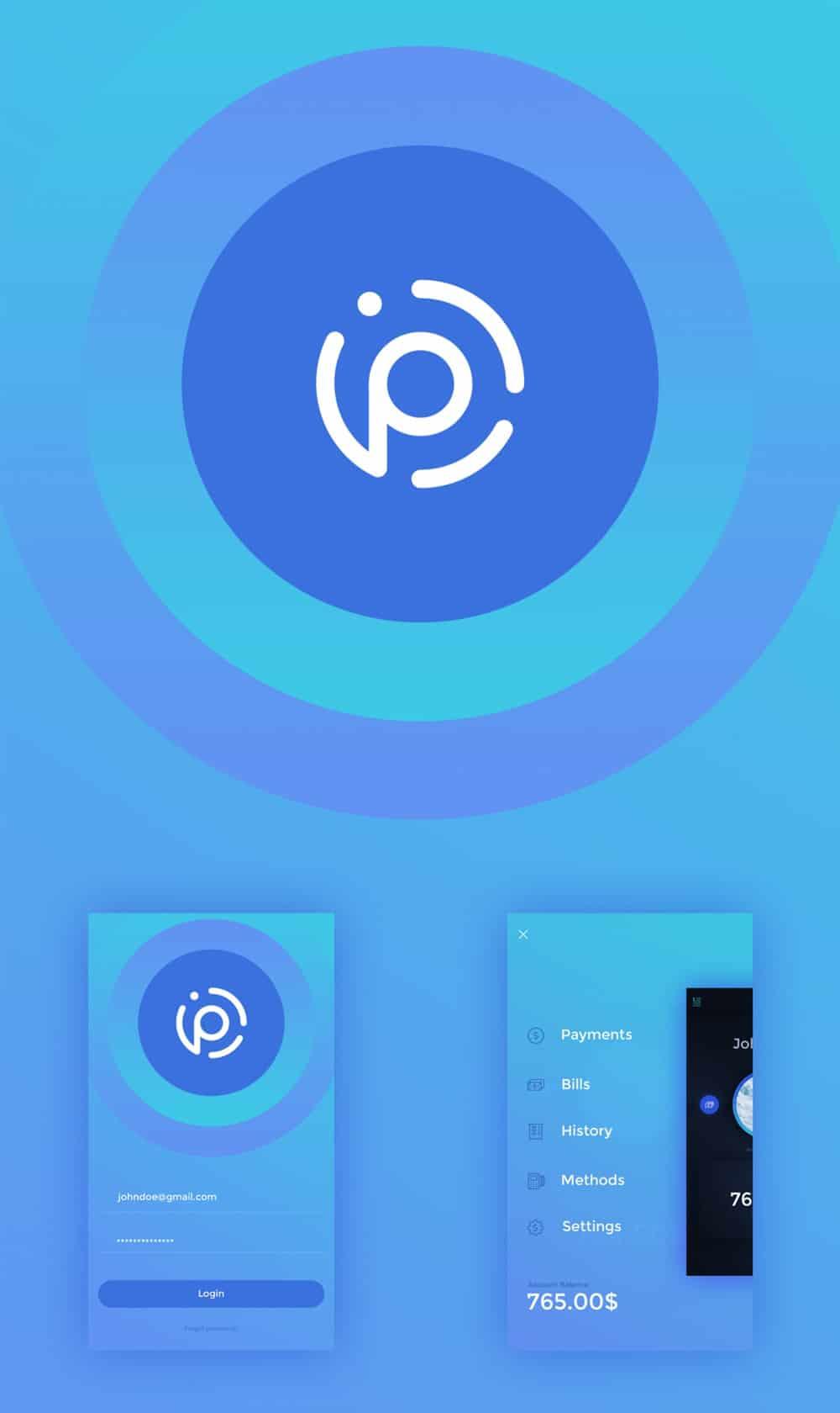 Payme Mobile App UI PSD