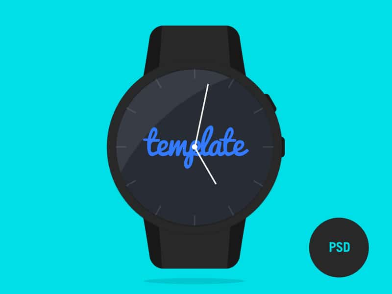 Phlat Watch PSD Template
