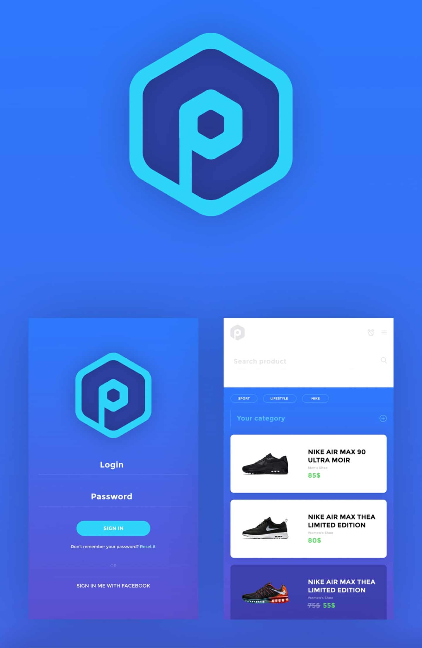 Pricifer Mobile App PSD