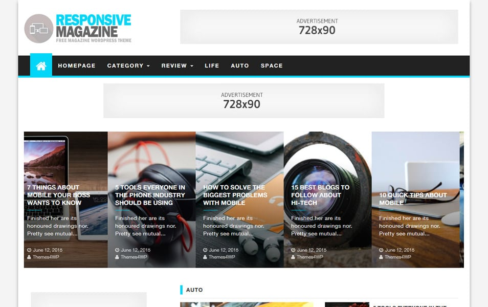 125+ Free Responsive Magazine WordPress Themes 2018 » CSS Author