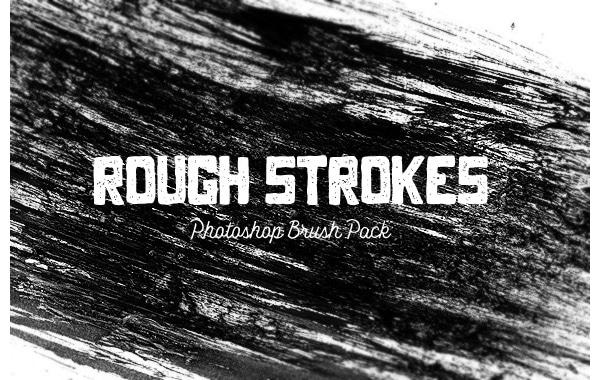 Rough Strokes Free Photoshop Brushes