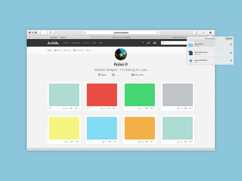 Safari 8.0 Mockup PSD