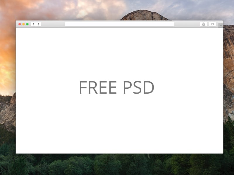 Safari Browser PSD