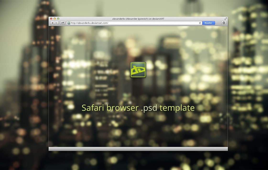 Safari Browser Template PSD