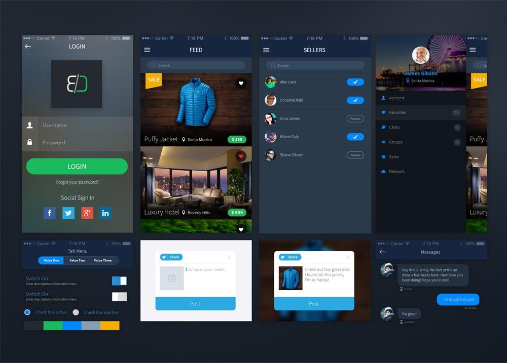 Sales App UI PSD