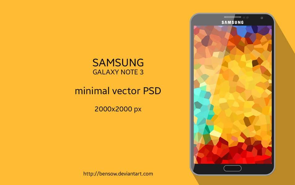 Samsung Galaxy Note 3 Vector PSD