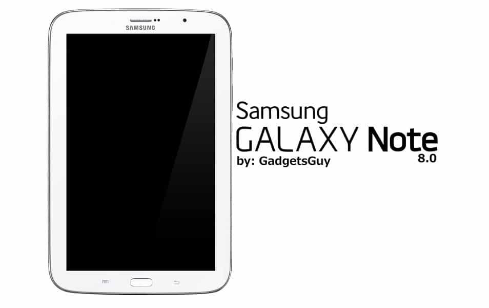 Samsung Galaxy Note 8.0 psd