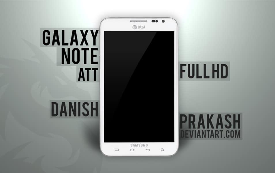 Samsung Galaxy Note ATT white [psd]