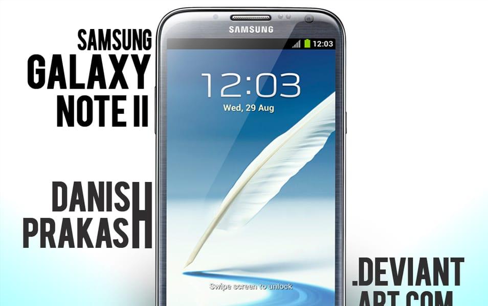 Samsung Galaxy Note II Blue [psd]