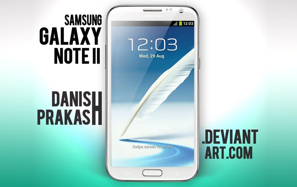 Samsung Galaxy Note II White [psd]