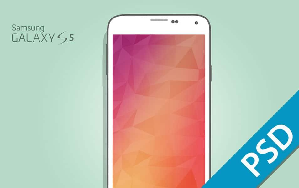 Samsung Galaxy S5 Flat Mockup