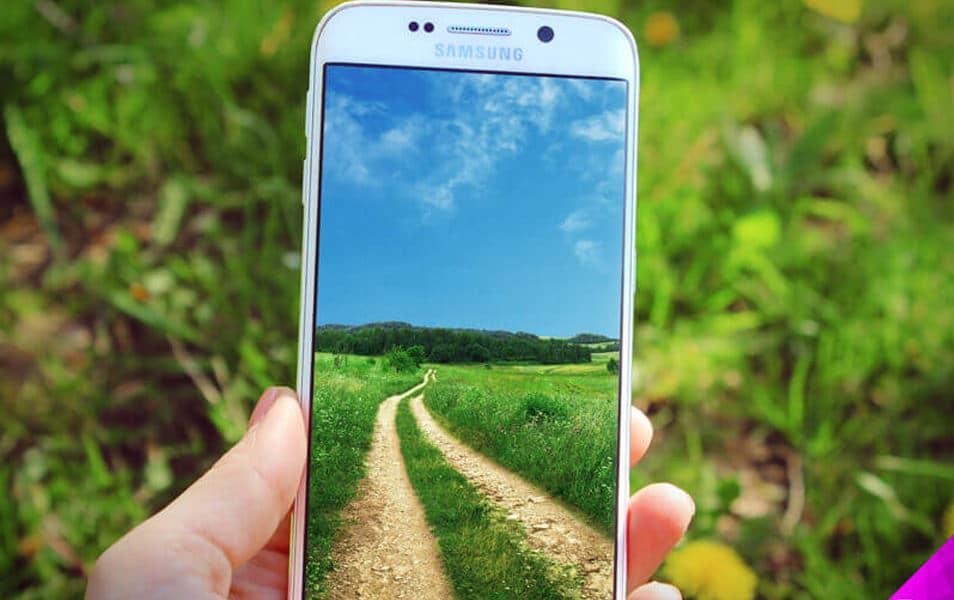 Samsung S6 Edge Nature Mockup