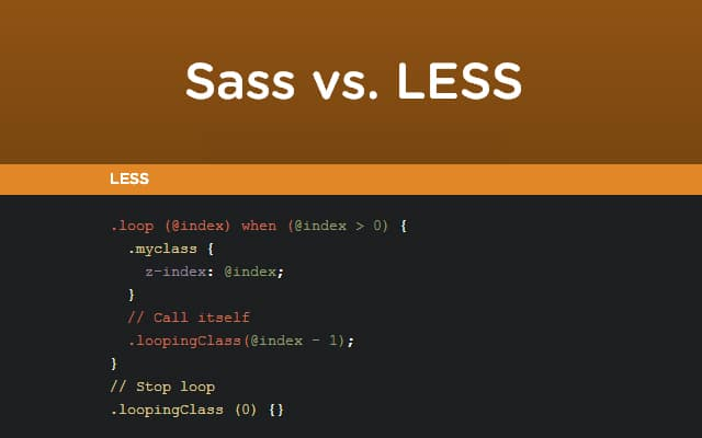 Sass vs LESS