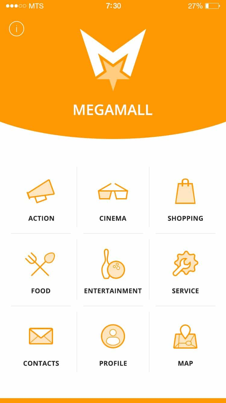 Shopping Center App UI PSD