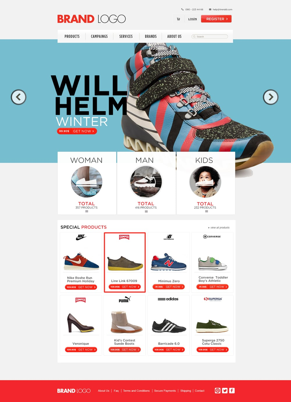 Shopping Template Free PSD