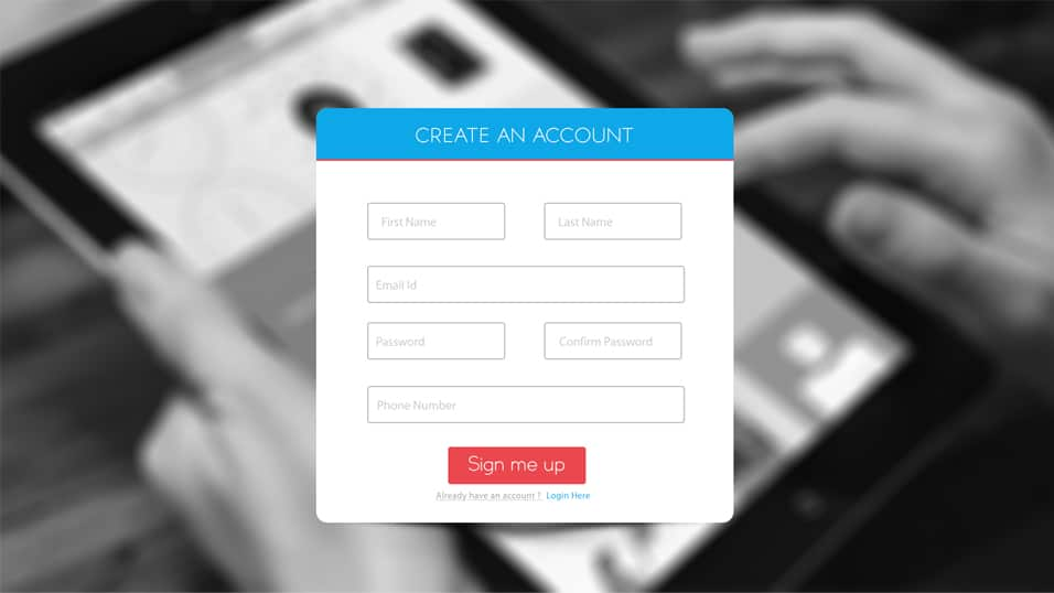 Sign up Form Free PSD