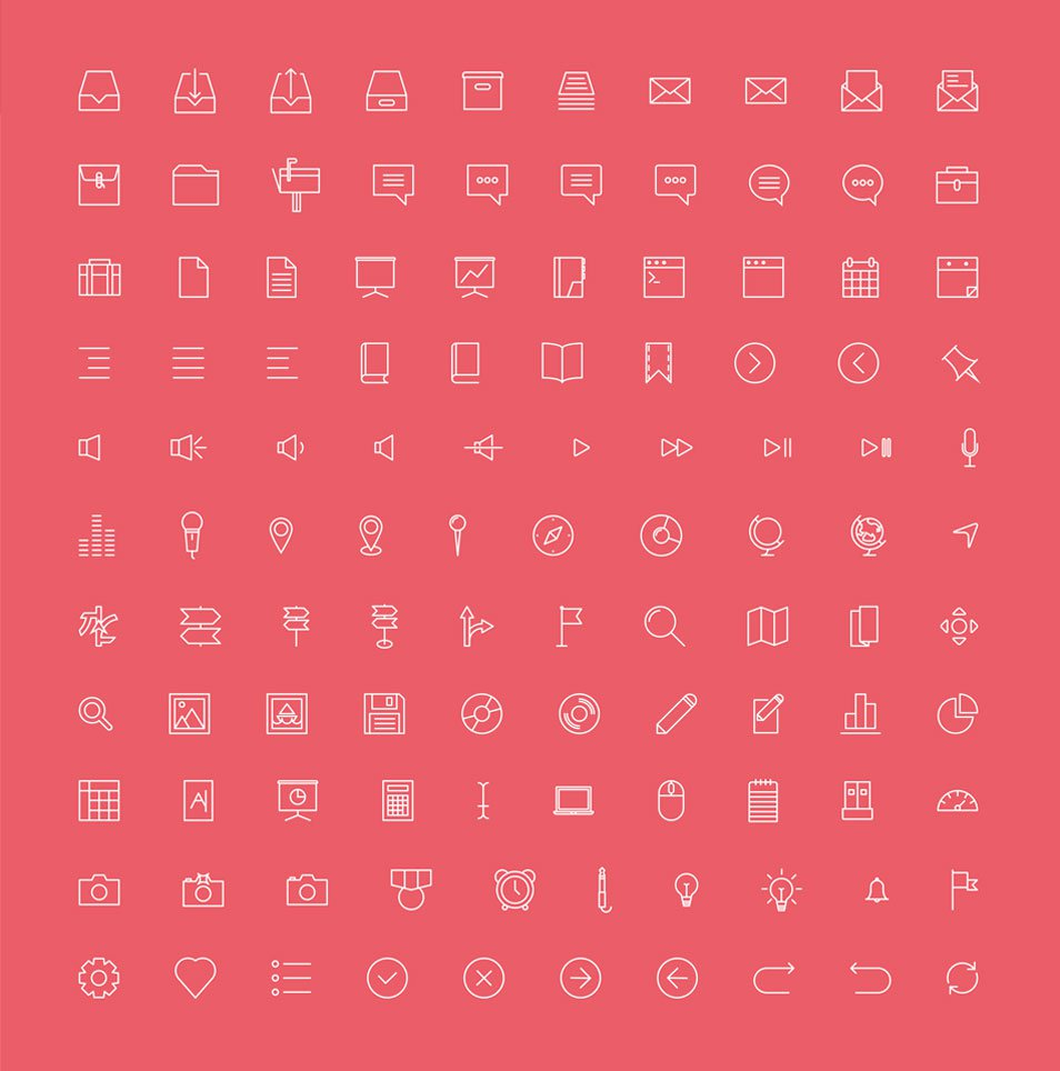 Simple Line Icons – 100+ free icons