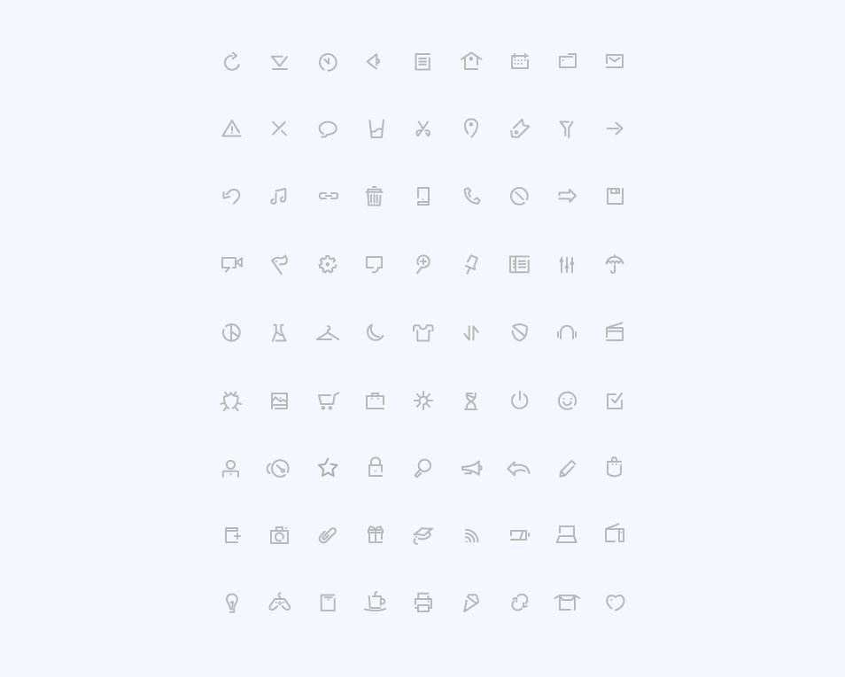 Simple Outline Icons
