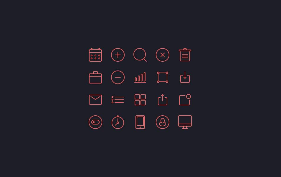 Small icons set
