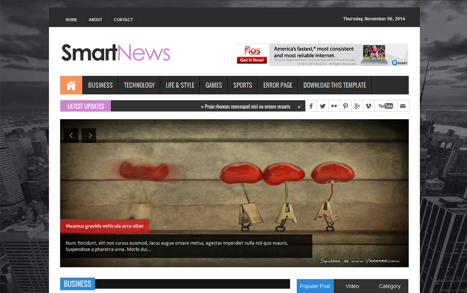150 free responsive magazine style blogger templates 2018 smart news responsive magazine blogger template cheaphphosting Gallery