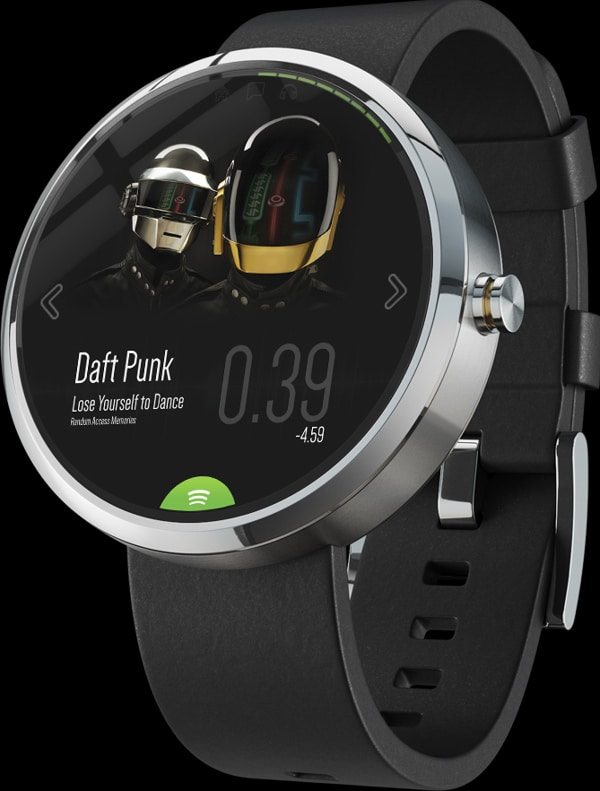 Smart Watch Spotify App