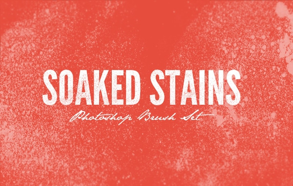 Soaked Stains Photoshop Brush Pack