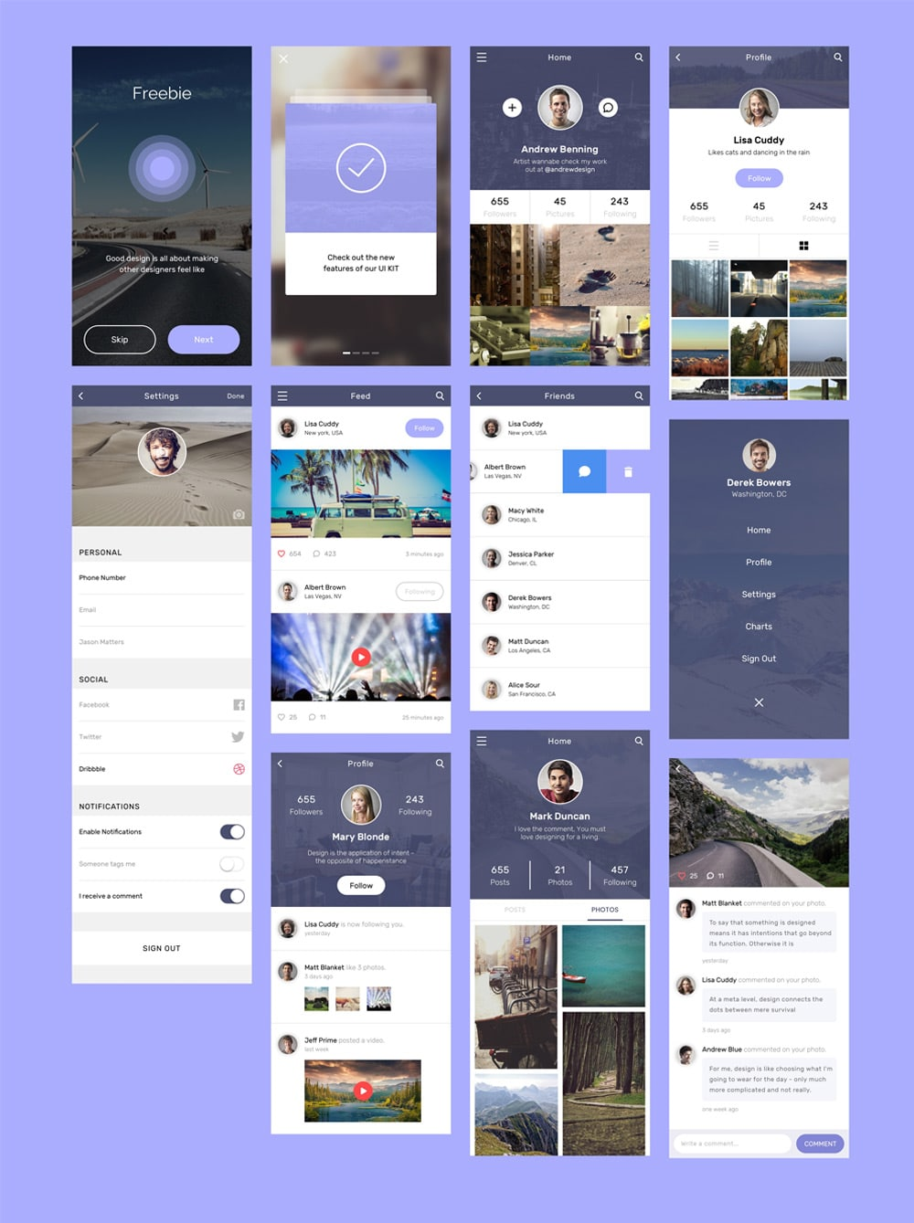 Android App Design Template Psd Free Download