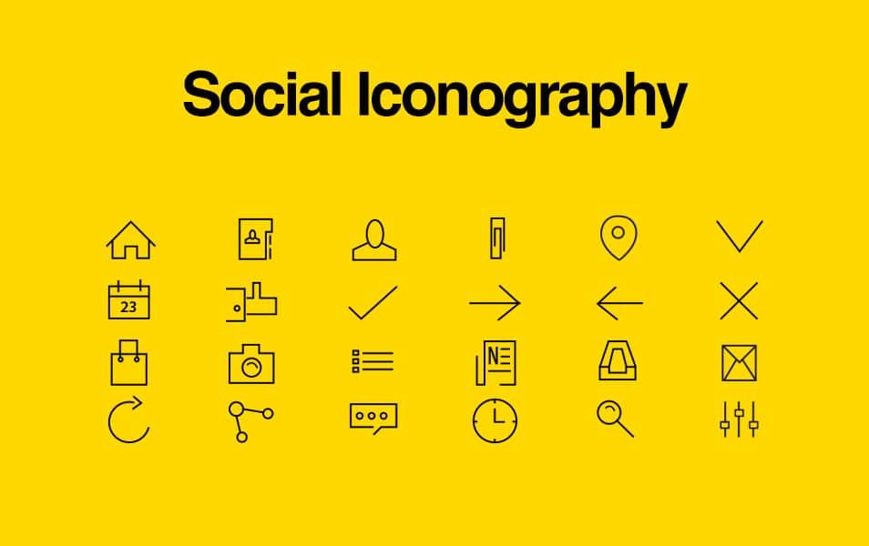 Social Line Icons