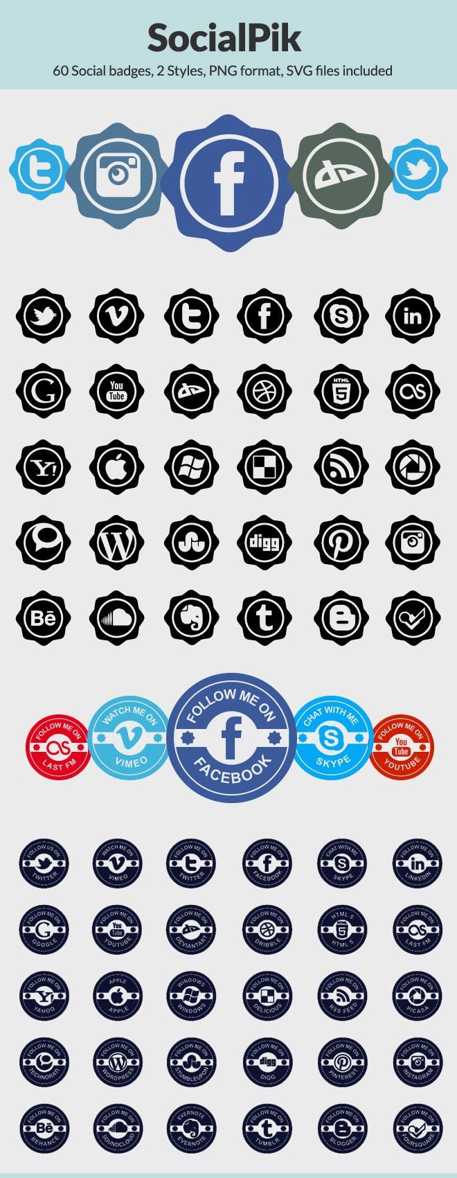 SocialPik Icon Set