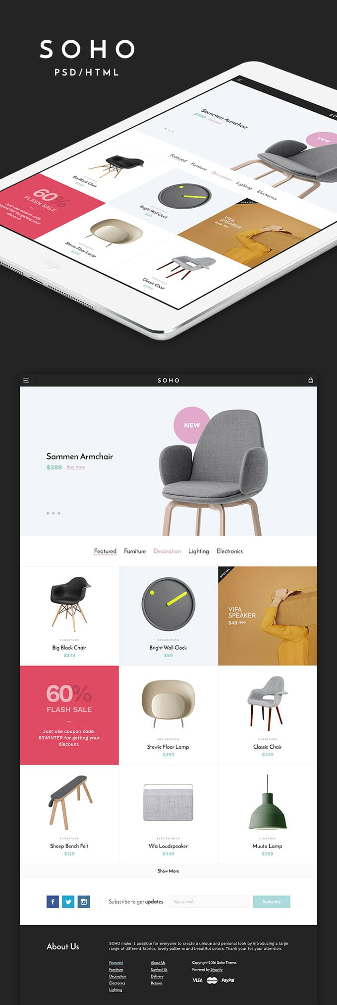 Soho - Free Responsive E commerce Template