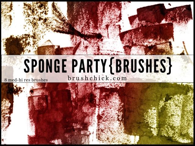 Sponge Party Brush Pack