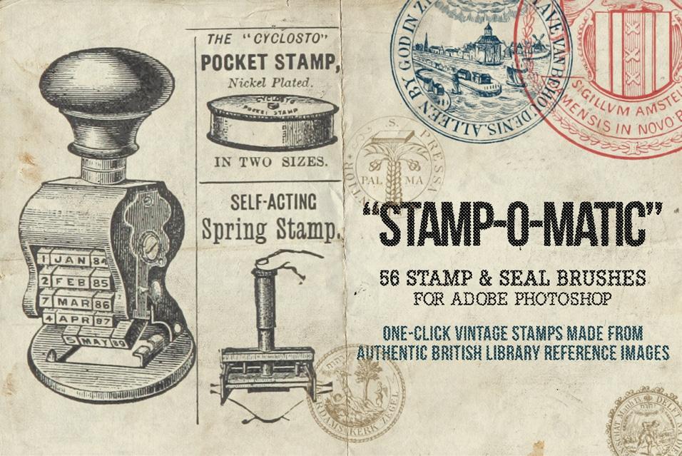 Stamp-O-Matic – A Vintage Stamp & Seal Brush Set