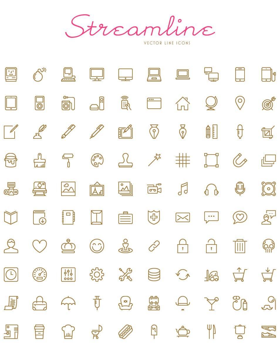 Streamline - 100 Free Vector Icons
